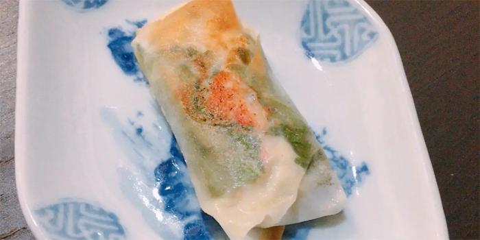 豆腐と蟹の春巻き