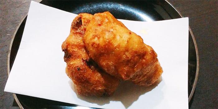 豆腐の落とし揚げ カルボナーラ風