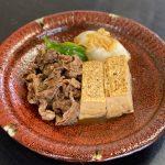 焼き豆腐と和牛のすき煮