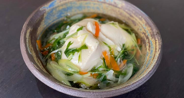 豆腐の野菜餡かけご飯