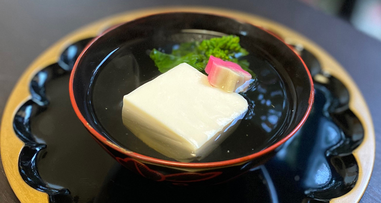 柚子豆腐と菜花のお吸い物