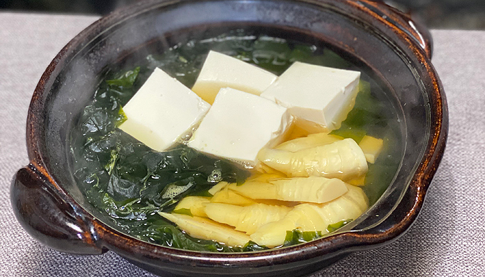 豆腐入り若竹煮