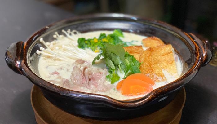 豆乳白味噌の牛鍋