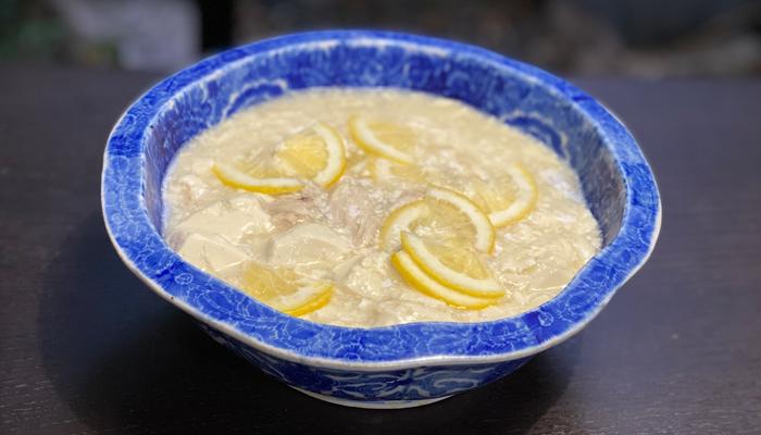 絹ごし豆腐とサラダチキンのレモン旨煮
