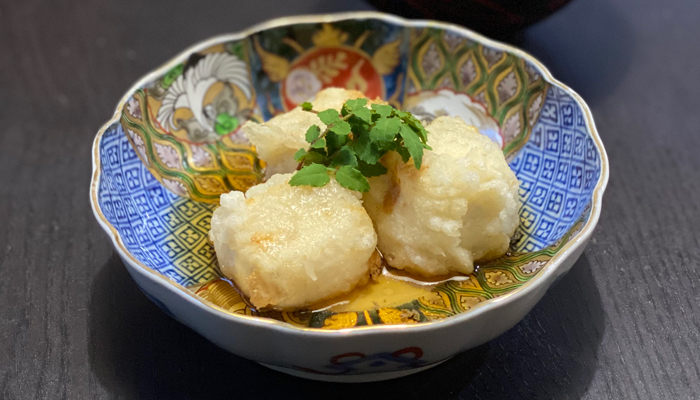 湯葉豆腐の天ぷら