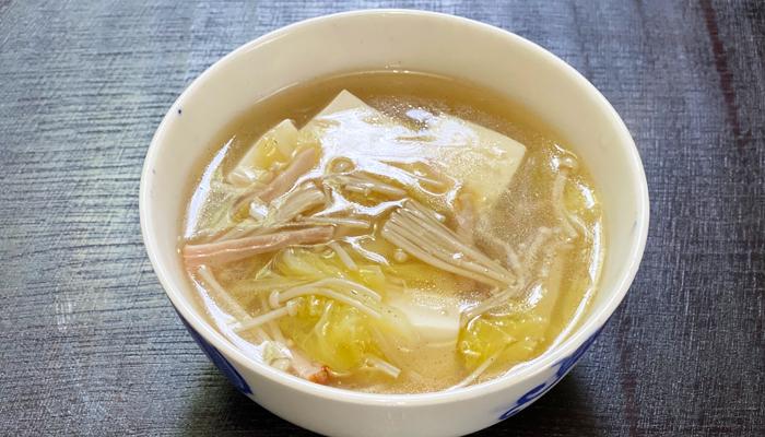 柚子豆腐の中華スープ