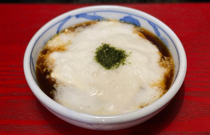 豆腐の温山かけ