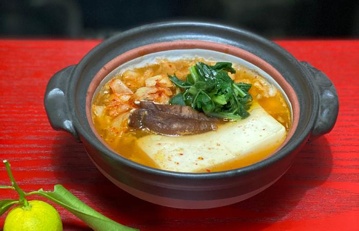 絹豆腐のキムチ鍋