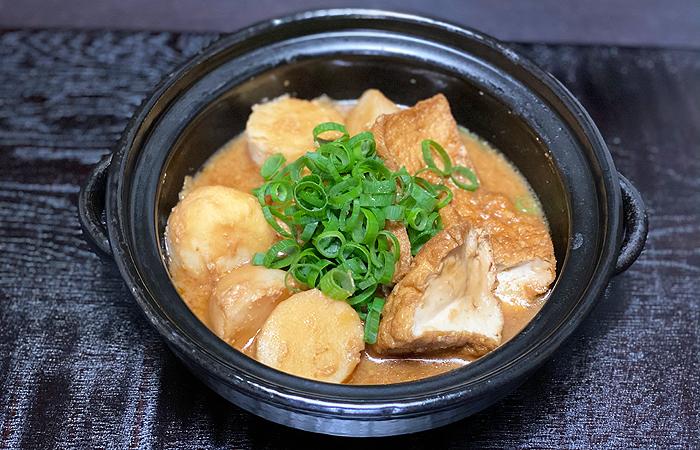 厚揚げと里芋の味噌煮